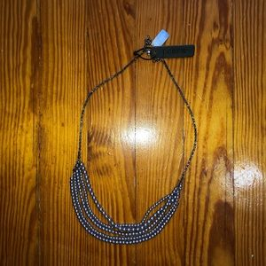 NWT J. Crew gray pearl multi-strand necklace.